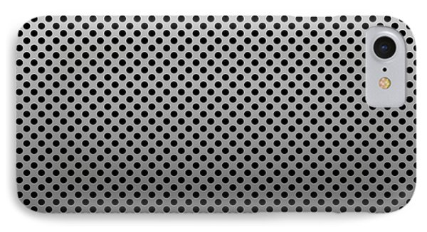 Metal Dotted Silver IPhone Case by Henrik Lehnerer