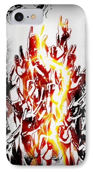 Metal On IPhone Case by Frederico Borges