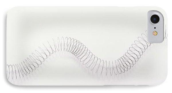 Metal Slinky Coil Manipulated IPhone Case by Dorling Kindersley/uig