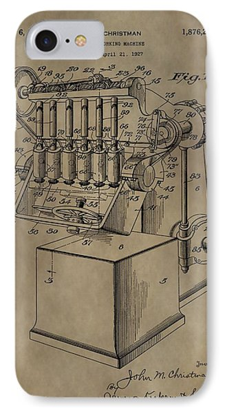 Metal Working Machine Patent IPhone Case by Dan Sproul
