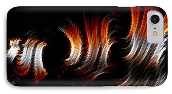 IPhone Case featuring the digital art Metallic Swirls by Lea Wiggins
