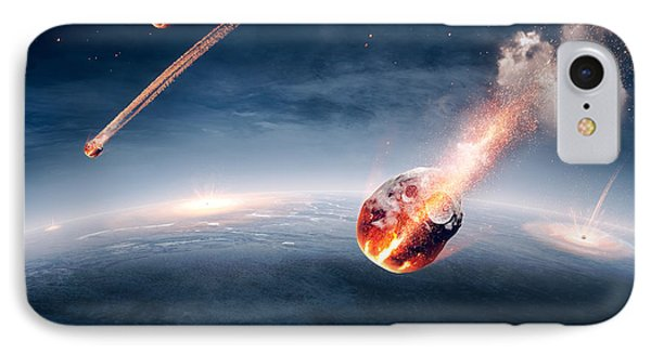 Meteorites On Their Way To Earth IPhone Case