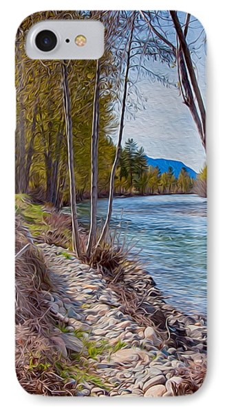Methow River Coming From Mazama Phone Case by Omaste Witkowski