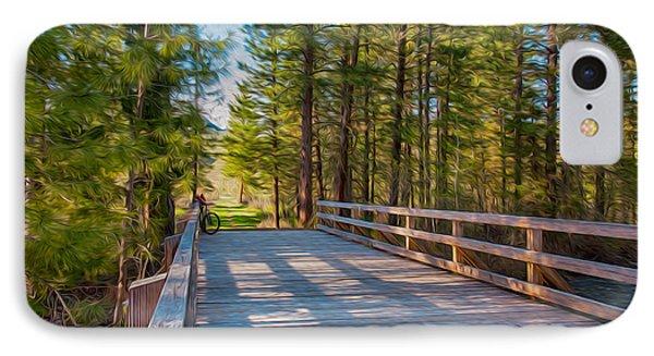 Methow Valley Community Trail At Wolf Creek Bridge Phone Case by Omaste Witkowski