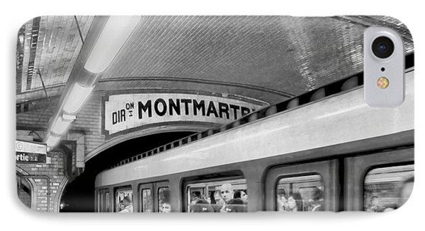 IPhone Case featuring the photograph Metro At Montmartre. Paris by Jennie Breeze