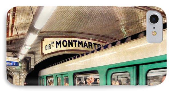 IPhone Case featuring the photograph Metro To Montmartre. Paris   by Jennie Breeze