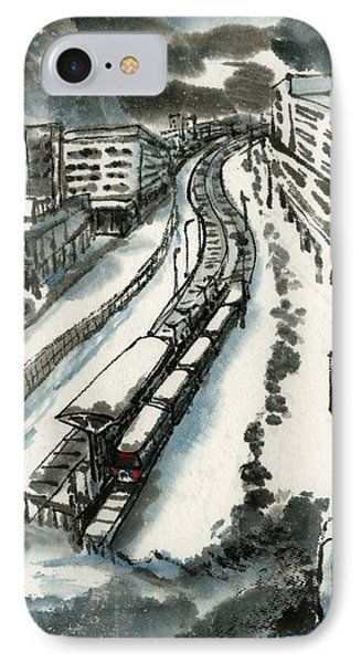 Metro Train At Central Wester-end IPhone Case by Ping Yan