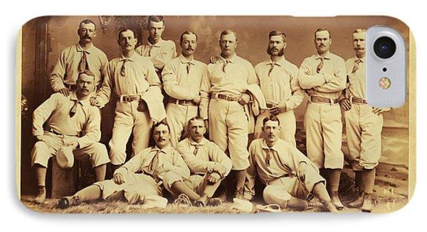 Metropolitan Baseball Nine Team In 1882 Phone Case by Bill Cannon