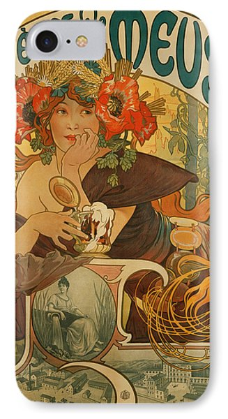 Meuse Beer IPhone Case by Alphonse Marie Mucha
