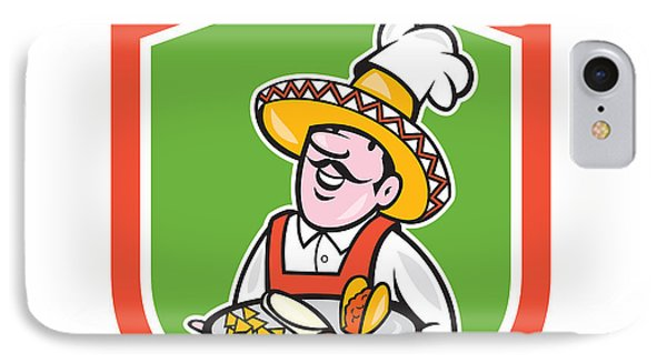 Mexican Chef Cook Shield Cartoon IPhone Case