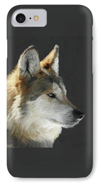 Mexican Grey Wolf Portrait Freehand Phone Case by Ernie Echols