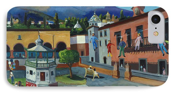 Mexican Memories Of San Miguel IPhone Case by Linda Novick