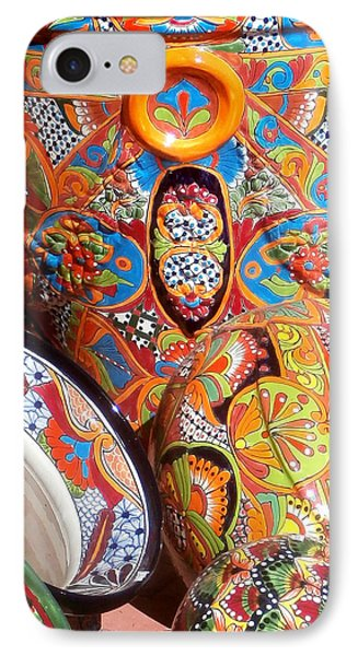 Mexican Painted Pottery IPhone Case by Karyn Robinson
