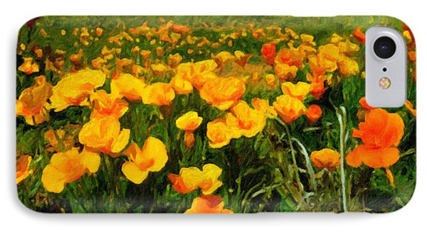 IPhone Case featuring the digital art Mexican Poppies by Chuck Mountain