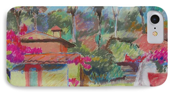 IPhone Case featuring the painting Mexican Spa by Linda Novick