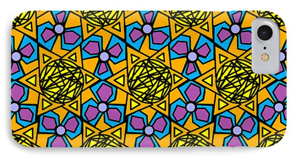 IPhone Case featuring the digital art Mexican Sun / African Violet by Elizabeth McTaggart