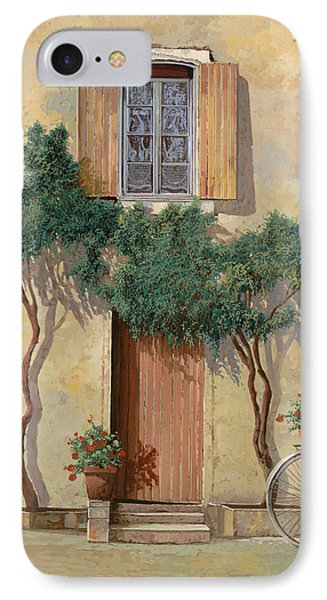 Mezza Bicicletta Sul Muro IPhone Case by Guido Borelli