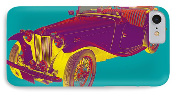 Mg Convertible Antique Car Pop Art IPhone 7 Case by Keith Webber Jr