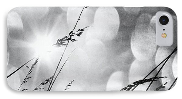 #mgmarts #grass #weed #wind #field IPhone Case by Marianna Mills