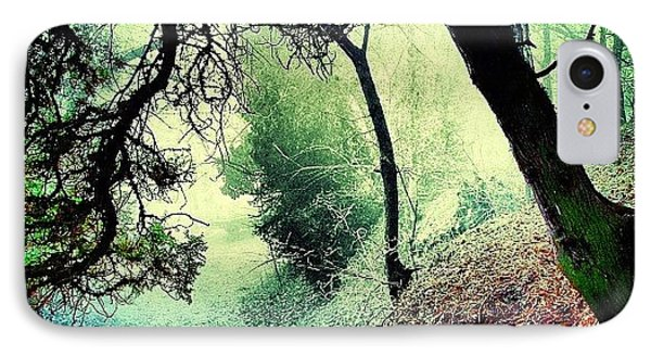 #mgmarts #nature #fog #visionary IPhone Case by Marianna Mills