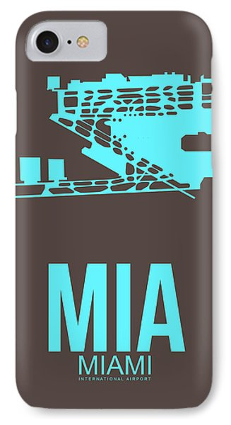 Mia Miami Airport Poster 2 IPhone Case