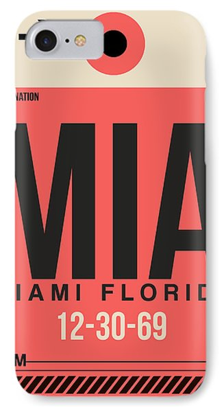 Miami Airport Poster 3 IPhone Case