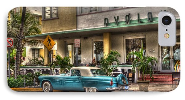 Miami Beach Art Deco 1 IPhone Case by Timothy Lowry