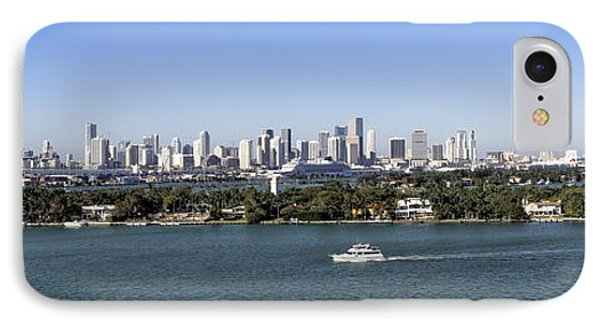IPhone Case featuring the photograph Miami Daytime Panorama by Gary Dean Mercer Clark