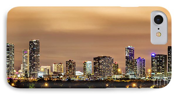 Miami Downtown Skyline Winter Sky IPhone Case by Rene Triay Photography