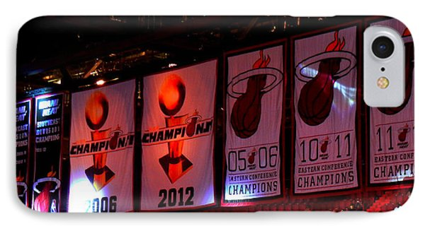 Miami Heat Banners Phone Case by J Anthony