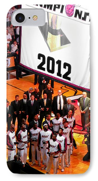Miami Heat Championship Banner Phone Case by J Anthony