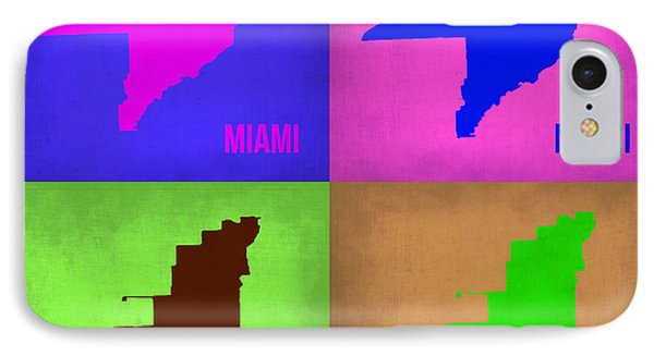 Miami Pop Art Map 1 Phone Case by Naxart Studio