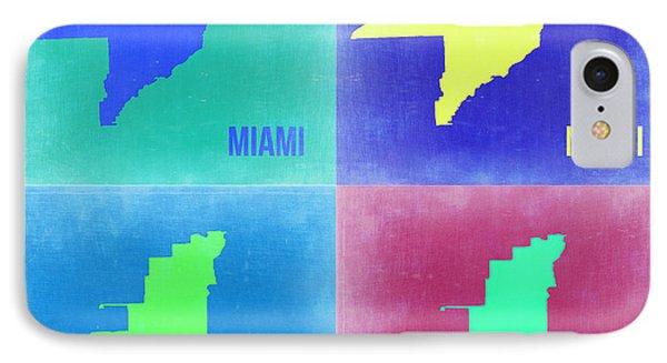 Miami Pop Art Map 2 IPhone Case by Naxart Studio