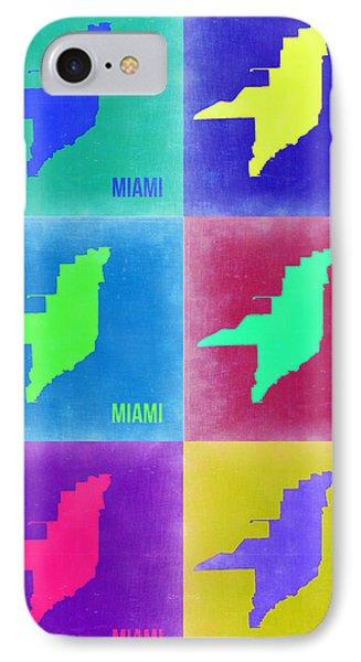 Miami Pop Art Map 3 IPhone Case by Naxart Studio