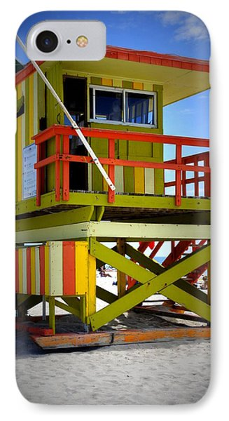 IPhone Case featuring the photograph Miami Shack by Laurie Perry