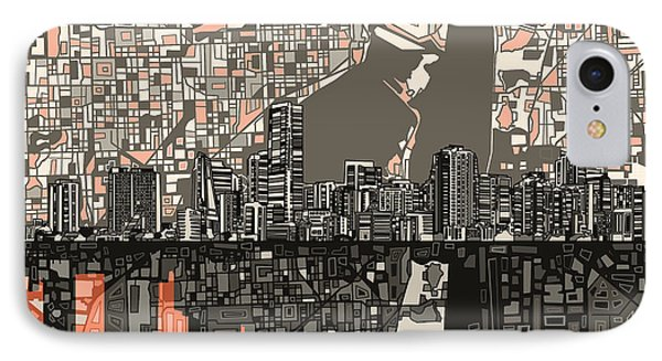 Miami Skyline Abstract 2 IPhone 7 Case