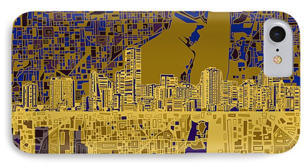 Miami Skyline Abstract 3 IPhone 7 Case