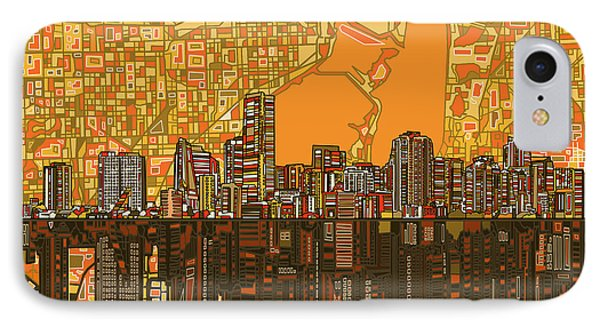 Miami Skyline Abstract 5 IPhone 7 Case