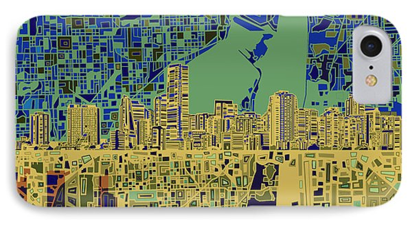 Miami Skyline Abstract 7 IPhone 7 Case