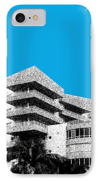 Miami Skyline Art Deco District - Ice Blue IPhone Case