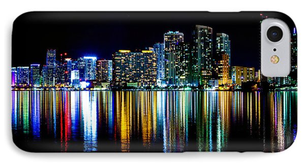 Miami Skyline High Res Phone Case by Rene Triay Photography