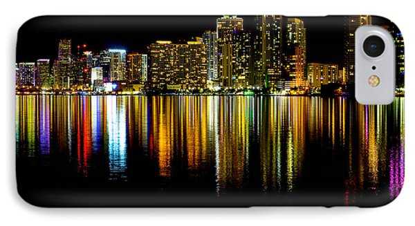 Miami Skyline II High Res Phone Case by Rene Triay Photography