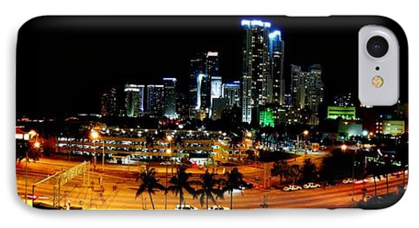 IPhone Case featuring the photograph Miami Skyline by J Anthony