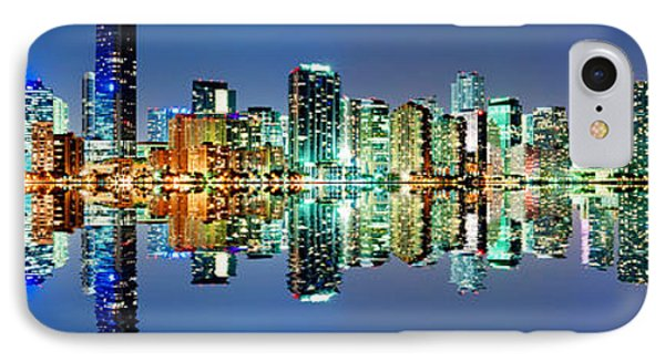Miami Skyline Panorama IPhone Case