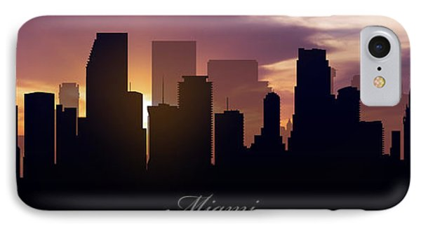 Miami Sunset IPhone Case by Aged Pixel