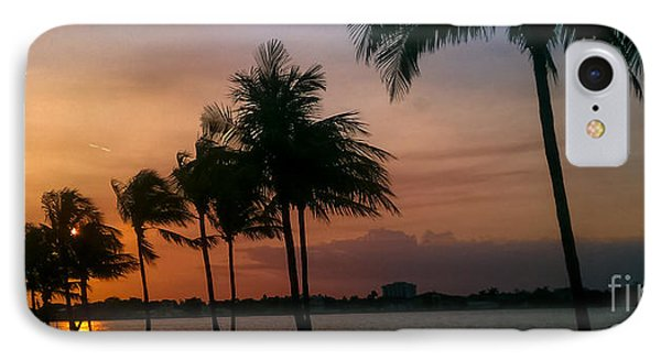 Miami Sunset IPhone Case by Charlie Cliques