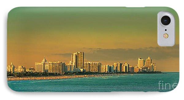 Miami Sunset IPhone Case by Olga Hamilton