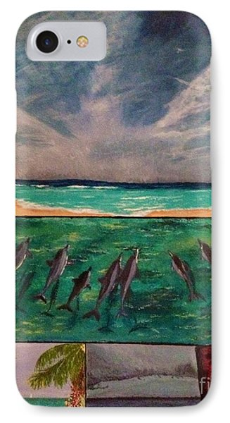 IPhone Case featuring the painting Delfin by Vanessa Palomino