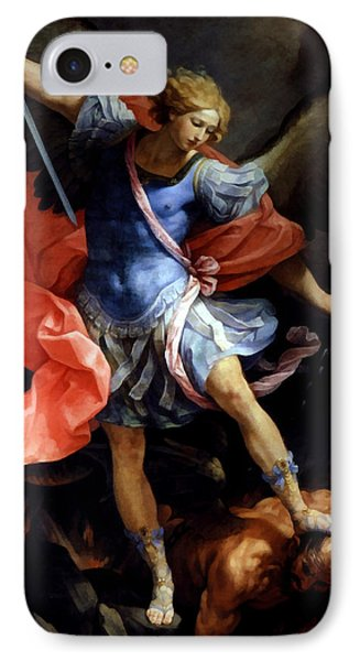 Michael Defeating Satan IPhone Case by Guido Reni