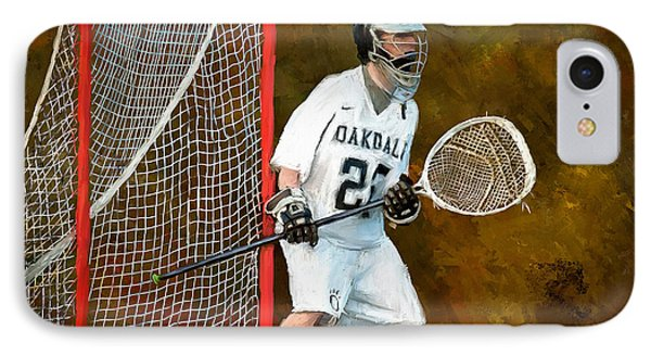 Michael In Goal IPhone Case by Scott Melby